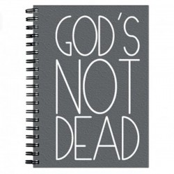 "Notes A6 na spirali w kratkę ""God's not dead"""