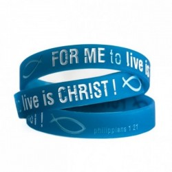 "Opaska silikonowa ""For me to live is Christ"""