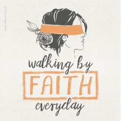 "Podstawka korkowa AF ""WALKING BY FAITH EVERYDAY (K"